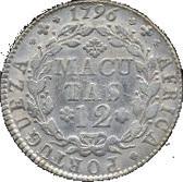 12 Macutas - Maria I (Colonie Portugaise) -  revers