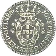 2 Macutas - José I (Colonie Portugaise) – avers