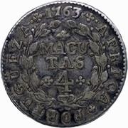 4 Macutas - José I (Colonie Portugaise) -  revers