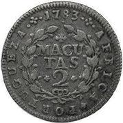 2 Macutas - Maria I & Pedro III – revers