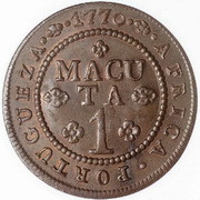1 Macuta - José I (Colonie portugaise) – revers