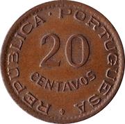 20 Centavos (Anniversaire de la Révolution) (Colonie Portugaise) -  revers