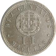 10 Centavos / 2 Macutas  (Colonie Portugaise) -  revers