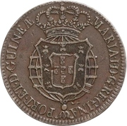 ½ macuta - Maria I (Colonie portugaise) – avers