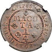 ¼ Macuta - Maria I & Pedro III (Colonie Portugaise) – revers