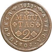 2 Macutas - João VI (Colonie Portugaise) – revers