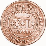 40 Reis - José I (Colonie portugaise) – avers