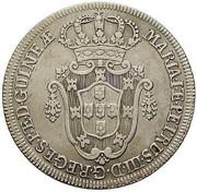 10 Macutas - Maria I & Pedro III -  avers