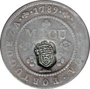 ½ Macuta (Monnaie contremarquée) – revers