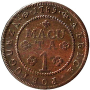 1 Macuta - Maria I (Colonie portugaise) – revers