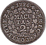 2 Macutas - Maria I (Colonie Portugaise) – revers