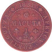 ½ Macuta - Maria II (Colonie portugaise) – revers