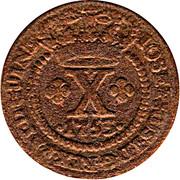 10 Reis - José I (Colonie portugaise) – avers