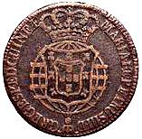 ½ Macuta - Maria I & Pedro III – avers