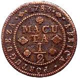 ½ Macuta - Maria I & Pedro III – revers