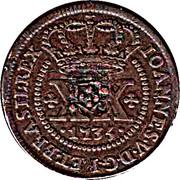 40 Reis - João Prince régent (contremarquée) – avers