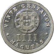 20 Centavos / 4 Macutas (Colonie Portugaise) -  revers