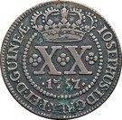 20 Reis - José I (Colonie portugaise) – avers