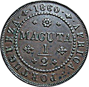 ½ Macuta - Pedro V (Colonie portugaise) – revers