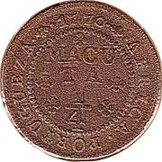 ¼ Macuta - José I (Colonie Portugaise) – revers