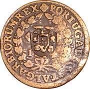 10 Reis - João Prince Regent (countermarked over  Pedro II) – avers