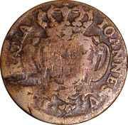 10 Reis - João Prince Regent (countermarked over  Pedro II) – revers