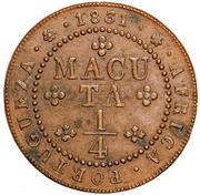 ¼ Macuta  - Miguel I – revers