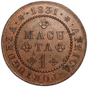1 Macuta - Miguel I (Essai) – revers