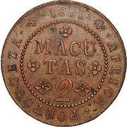 2 Macutas - Miguel I (Essai) – revers