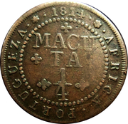 ¼ Macuta - João VI (Colonie Portugaise) – revers