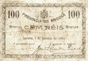 100 Réis (Bronze) – avers