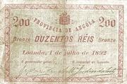 200 Réis (Bronze) – avers