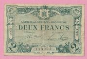 2 francs - Chambre de Commerce d'Angoulême [16] – avers