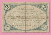2 francs - Chambre de Commerce d'Angoulême [16] – revers