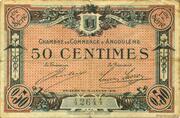 50 centimes - Chambre de commerce d'Angoulème [16] <1ère série> – avers