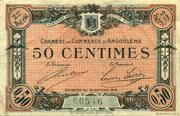 50 centimes - Chambre de commerce d'Angoulème [16] <2ème série> – avers
