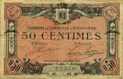 50 centimes - Chambre de commerce d'Angoulème [16] <3ème série> – avers
