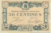 50 centimes - Chambre de commerce d'Angoulème [16] <4ème série> – avers
