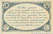 50 centimes - Chambre de commerce d'Angoulème [16] <4ème série> – revers