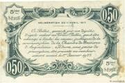 50 centimes - Chambre de commerce d'Angoulème [16] <5ème série> – revers