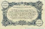 50 centimes - Chambre de commerce d'Angoulème [16] <6ème série> – revers