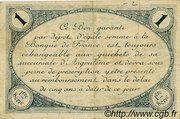 1 franc - Chambre de commerce d'Angoulème [16] <1ère série> – revers