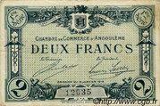 2 francs - Chambre de Commerce d'Angoulême [16] <1er série> – avers