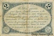 2 francs - Chambre de Commerce d'Angoulême [16] <1er série> – revers