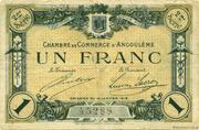 1 franc - Chambre de commerce d'Angoulème [16] <2ème série> – avers