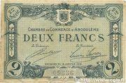 2 francs - Chambre de Commerce d'Angoulême [16] <2ème série> – avers