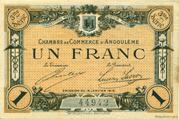 1 franc - Chambre de commerce d'Angoulème [16] <3ème série> – avers
