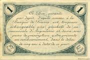 1 franc - Chambre de commerce d'Angoulème [16] <3ème série> – revers