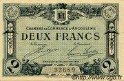 2 francs - Chambre de Commerce d'Angoulême [16] <3ème série> – avers