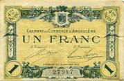 1 franc - Chambre de commerce d'Angoulème [16] <4ème série> – avers